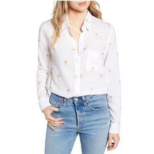 NWT Rails Charli Glitter Palm Tree Shirt Small